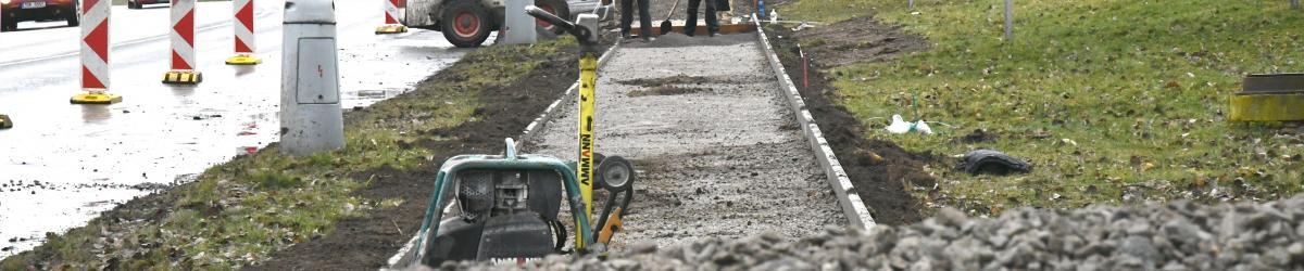 Výstavba chodníků v ulici Americká