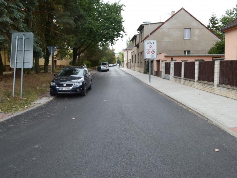 Ulice Otevřená po rekonstrukci
