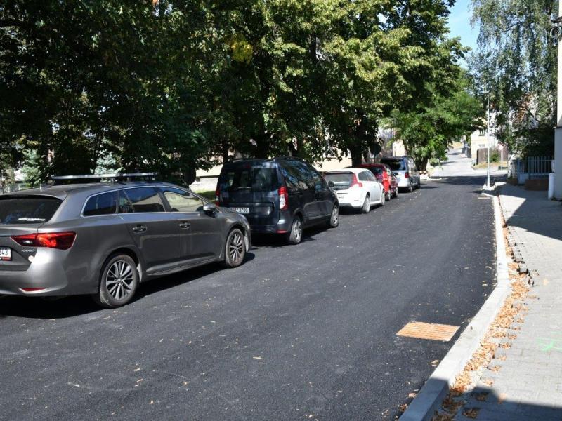 Zrekonstruovaná ulice Žižkova v Kladně - Švermově