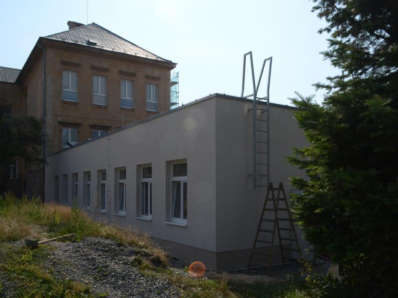 Přístavba jídelny ZŠ Doberská